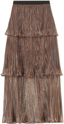 Self-Portrait Pleated Flounce Skirt