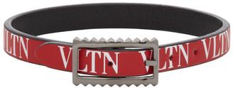 Valentino Red and Black Garavani VLTN Bracelet