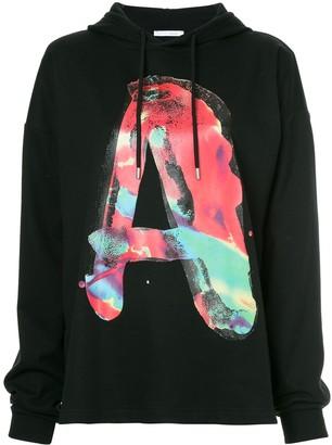Alyx A slogan long-sleeve hoodie