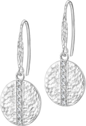 Dower & Hall Lumiere Sterling Silver Round Sapphire Drop Earrings
