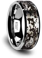 Thorsten Jewelry STEALTH Tungsten Carbide Wedding Ring with Engraved Black Digital Camouflage - 8mm