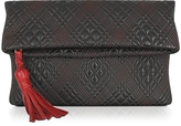 Fontanelli Black Quilted Leather Clutch
