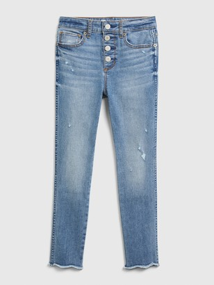 Gap Kids High Rise Distressed Ankle Jeggings with Max Stretch