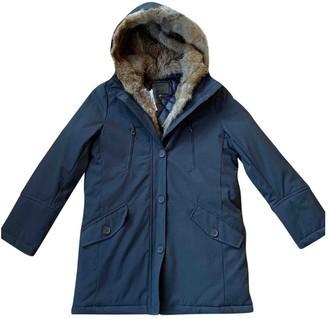 Bonpoint Navy Fur Coat for Women