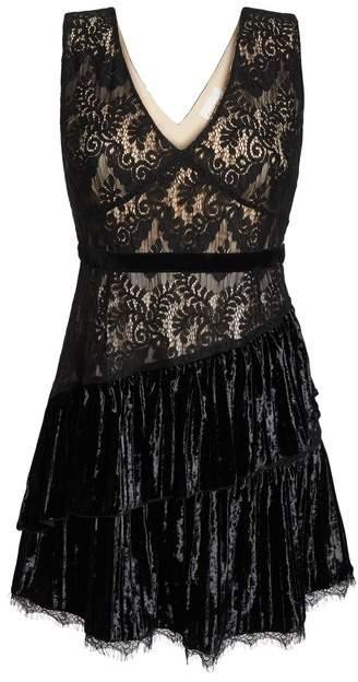 Foxiedox Aurora Sleeveless Velvet Mixed Dress