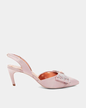 Ted Baker AIDELA Crystal bow sling back courts