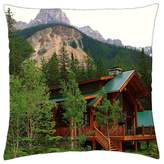 """iRocket - House in the mountains - Throw Pillow Cover (16"""" x 16"""", 40cm x 40cm)"""