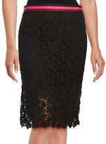 Trina Turk Paltrow Floral Lace Pencil Skirt