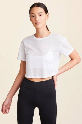 ALALA Tie Back Crop Tee White - XS