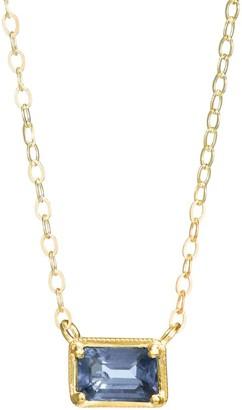 Ila Leone 14K Yellow Gold & Blue Sapphire Pendant Necklace