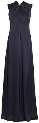 Victoria Beckham Sleeveless Twist Satin Gown