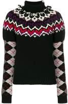 Loewe argyle sleeves jumper
