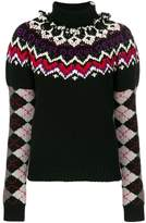 Loewe argyle sleeves sweater