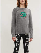 Gucci Panther-intarsia wool and cashmere-blend jumper