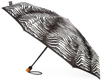 Saks Fifth Avenue Zebra-Print Umbrella