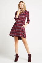 BCBGeneration Plaid Shirt Dress - Red