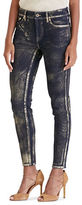 Lauren Ralph Lauren Metallic Skinny Jeans