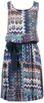 Saint Tropez ZIGZAG CROSS BACK Summer dress blue deep