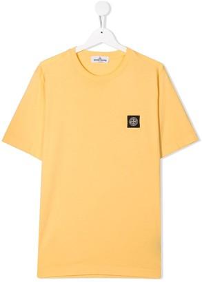 Stone Island Junior TEEN logo patch cotton T-shirt