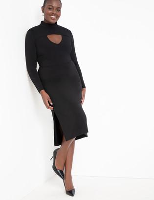 ELOQUII Turtleneck Dress with Cutout