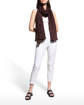 Thumbnail for your product : Eileen Fisher Crushed Silk Habutai Scarf