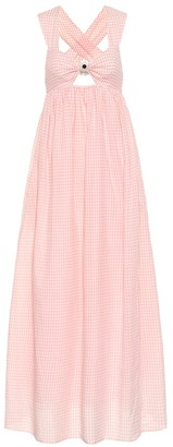 Marysia Swim Exclusive to Mytheresa East Hampton gingham cotton dress