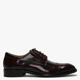 Daniel Xlol Burgundy Patent Leather Lace Up Brogues