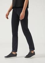 Emporio Armani Slim-Fit J18 Skinny Jeans In Gabardine