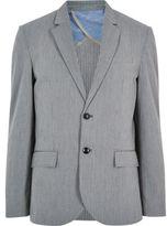 River Island Grey Cotton Seersucker Blazer