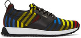 Fendi Multicolor Zig Zag Sneakers