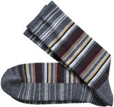 Johnston & Murphy Wool-Blend Variegated Stripe Socks