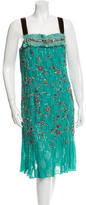 Carolina Herrera Embellished Silk Dress