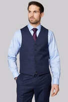 Ermenegildo Zegna Cloth Regular Fit Navy Check Waistcoat
