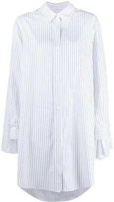 MM6 MAISON MARGIELA Cape-Detail Striped Shirt Dress
