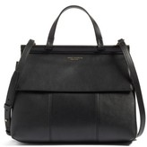 Tory Burch Block T Leather Satchel - Black
