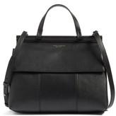 Tory Burch Block T Leather Top Handle Satchel - Black