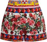 Dolce & Gabbana Carretto-print cotton shorts