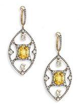 Ivy Diamond, Yellow Sapphire & Spinel Drop Earrings