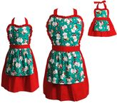 Dollie & Me Girls 4-16 Mommie & Me Santa Apron Set