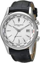 Frederique Constant Men's FC255S6B6 Classic Dual Time Zone Dial Watch