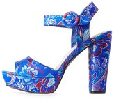 Charlotte Russe Qupid Brocade Two-Piece Platform Sandals