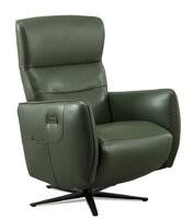 Orren Ellis Etude Swivel 22 Armchair Fabric: Frost Genuine Leather