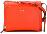 DKNY logo plaque crossbody bag - women - Artificial Leather - One Size