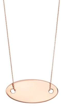 ginette_ny 18K Rose Gold Sequin Pendant Necklace