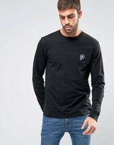 Penfield Plano Long Sleeve Top Small P Logo in Black