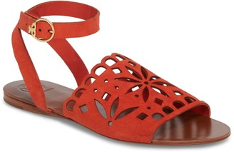 Tory Burch May Perforated Ankle Strap Sandal