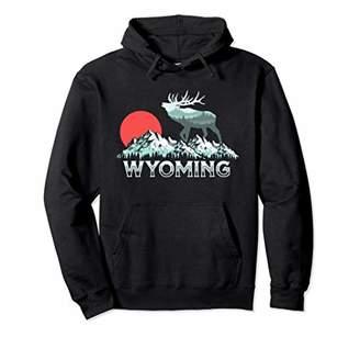 Hunter Vintage Wyoming Elk Conservation Retro Graphic Pullover Hoodie