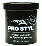 Ampro 15 oz. Pro-Styl Protein Gel Super Jar (3-Pack) with Free Nail File