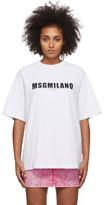 MSGM White 2009 Logo T-Shirt