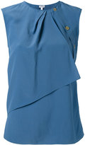 Loewe draped layered top - women - Silk/Viscose - 34